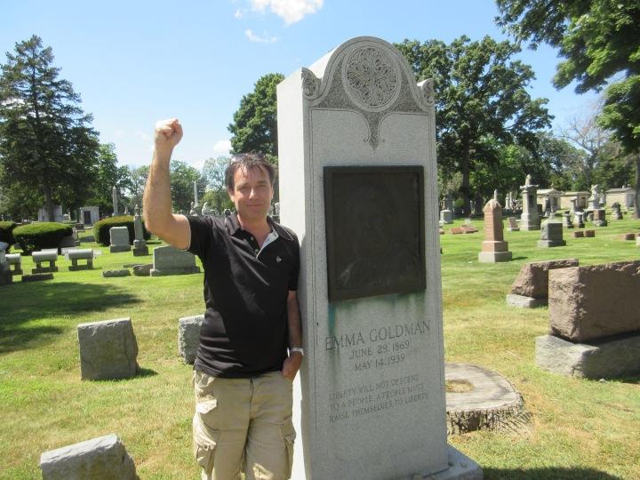 Eric Dussart - tombe d'Emma Godman - cimetière de Forest Home - Forest Park (banlieue de Chicago)