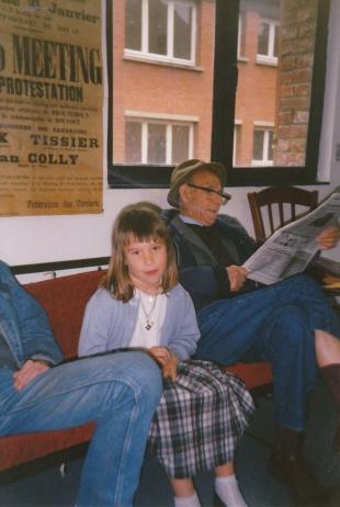 ma fille Chloé et José faran en 1990 à Lille