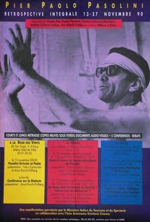 affiche retro pasolini v d'ascq 1990