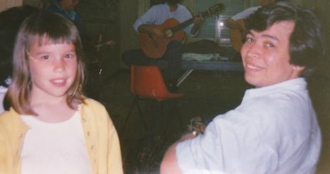 Ma fille Chloé et mon ami salvadorien Dagoberto - Lille - 1990