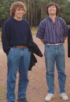 Mon ami Dagoberto (à droite) et moi-même (à gauche) à Vimy en 1991