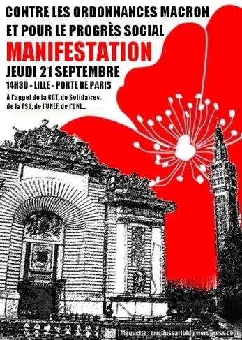 affiche manif porte de paris lille 21 09 2017