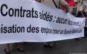 banderole unitaire contrats aidés Lille 30sept2017