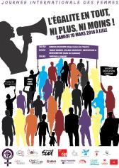 affiche du collectif 8 mars de Lille