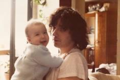 Ma fille et moi en 1985