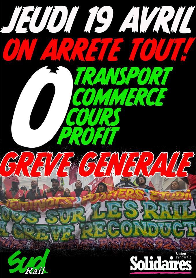 grève 19 avril 2018