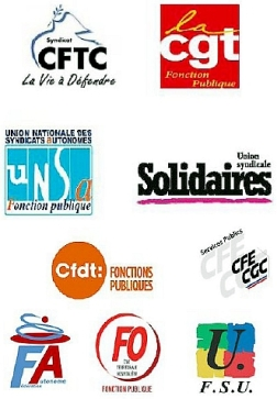 logos intersyndicale FP Nord PdC 22mai2018