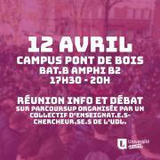 réunion d'info et débat sur parcoursup - Lille 3 - 12avril2018