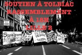 soutien à Tolbiac le 20 avril 2018 à Lille 2