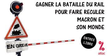 débat ATTAC sur bataille du Rail 26 mai 2018 Roubaix