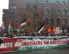 halte au massacre en Palestine (photo AFPS Nord Pas-de-Calais)
