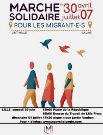 affiche Marche Solidaire Lille 30juin 01juillet 2018