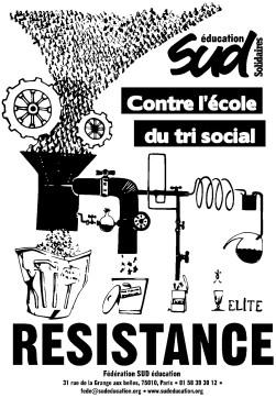 affiche-SUD-educ-Contre-ecole-du-tri-social-versionNB
