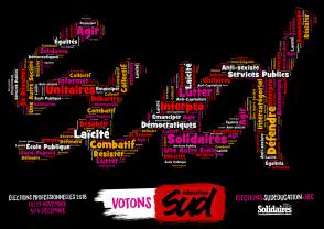 affiche_sud-éducation_élection_pro_2018