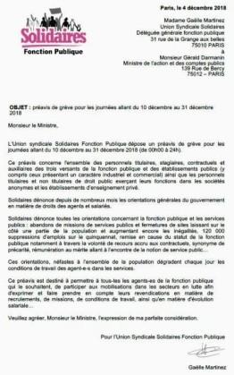préavis-de-grève-Solidaires-Fonction-publique-du-10-au-31-décembre-2018
