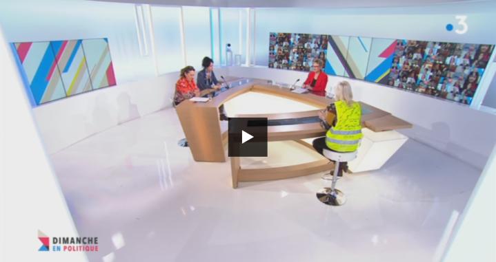 Copié d'écran - Emission sur droits des femmes - 10 mars 2019 - France 3 Nord Pas-de-Calais