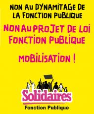 affiche-Solidaires-Non-au-projet-de-loi-Fonction-publique