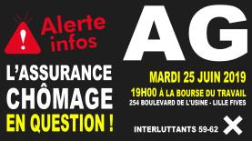 AG assurance chômage 25 juin 2019 Lille