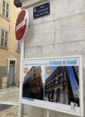 02 - plaque de la rue Pelloutier à Toulon (vue générale)