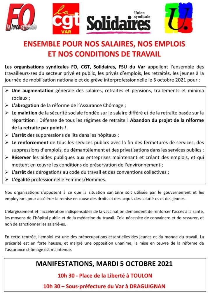 appel-greve-manifestation-5octobre2021